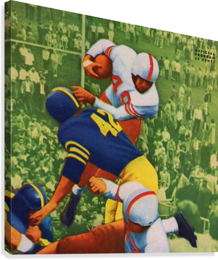 Vintage College Football Program Cover Art Print  Canvas Print