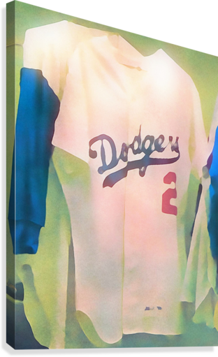 VINTAGE DODGERS JERSEY_LA DODGERS BASEBALL JERSEY ART PRINT (1) ROW ONE BRAND  Canvas Print