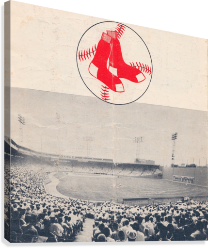 Vintage Fenway Park Poster_Boston Red Sox Photo Reproduction  Canvas Print