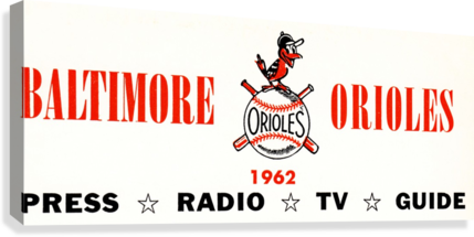 baltimore orioles press guide row one  Canvas Print