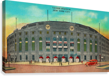 1935 Vintage New York Yankees Stadium Art  Canvas Print