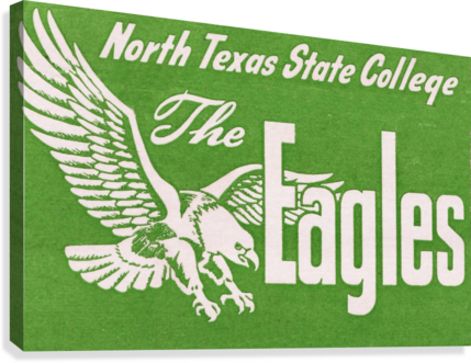 north texas state college unt eagles vintage poster college art collection  Canvas Print