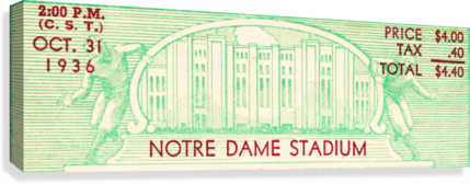 notre dame football fathers day gifts  Canvas Print