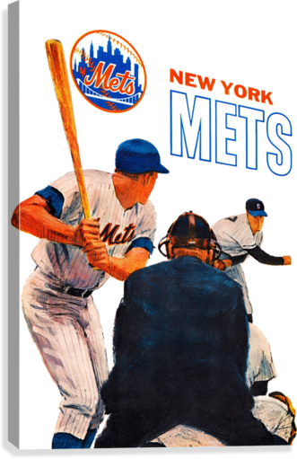Vintage New York Mets Art  Canvas Print