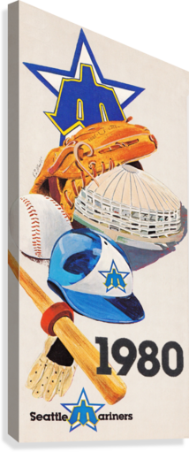 1980 Seattle Mariners  Canvas Print