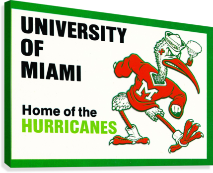 university of miami home of the hurricanes  Canvas Print
