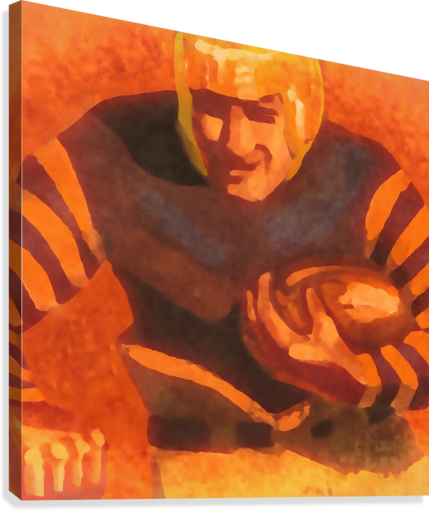 vintage football posters vintage football jersey fine art sports print  Canvas Print