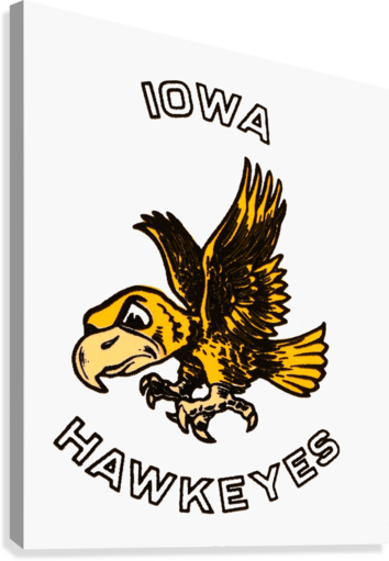 Vintage Iowa Hawkeyes Art  Canvas Print