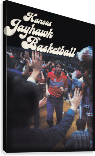 VINTAGE KANSAS JAYHAWKS BASKETBALL POSTER KU 1982 ROW ONE BRAND  Canvas Print