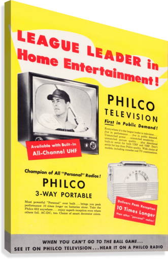 Vintage Philco Television Advertisement  Canvas Print