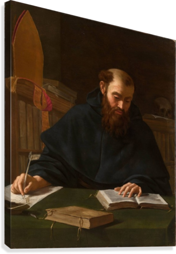 Saint Augustine in his study  Canvas Print