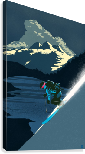 Retro Ski Poster  Canvas Print