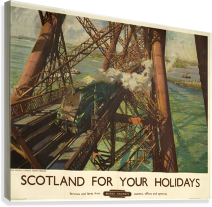 Scotland for your holidays  Canvas Print