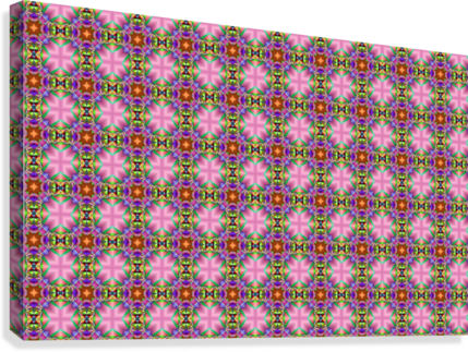 seamlesspsychedelicpattern  Canvas Print