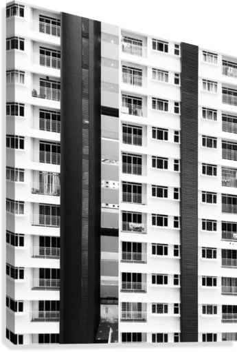 white and black city buildings  Canvas Print
