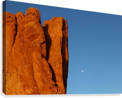 Red Rock and the Moon-BDR4129  Canvas Print