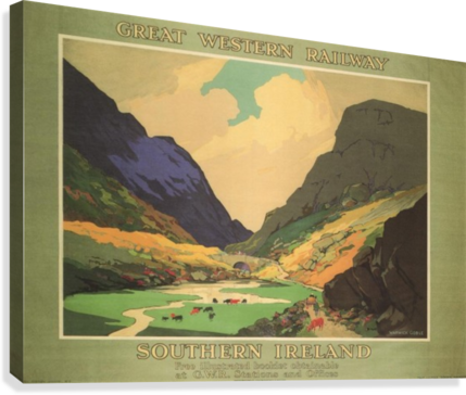 Southern Ireland Great Western Railway 1931 Vintage Travel Poster  Canvas Print
