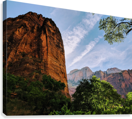 Zion Catching Rays  Canvas Print