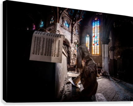 Abandoned Gothic Cathedral  Canvas Print