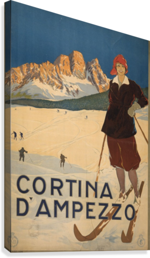 Cortina d Amprezzo  Canvas Print