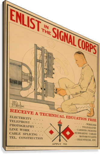 Signal Corps  Canvas Print