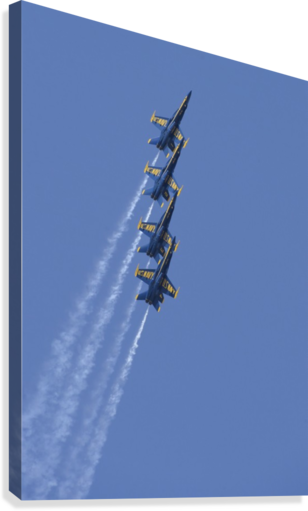 U.S. Navy flight demonstration squadron the Blue Angels.  Canvas Print