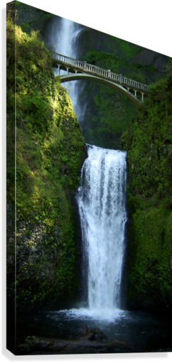 Multnomah Waterfalls Oregon  Canvas Print