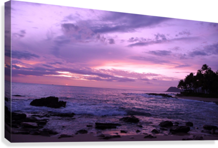Purple Skies Over Hawaii  Canvas Print
