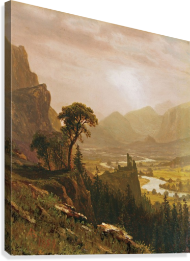 Sunset in the Mountains, 1859  Canvas Print