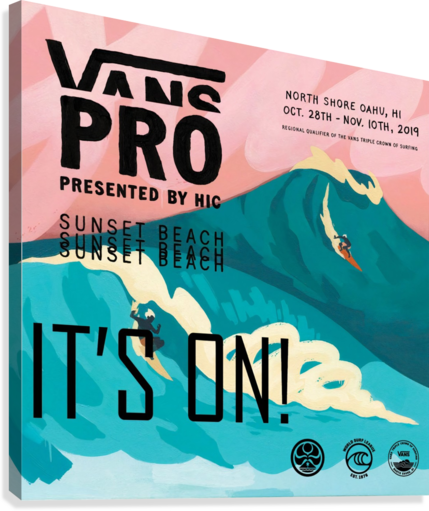 2019 VANS PRO PRINT - SURFING POSTER SURF POSTERS  Canvas Print