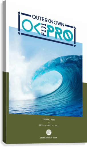 2017 OUTERKNOWN FIJI PRO Surf Competition Print  Canvas Print