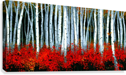 AUTUMN ASPENS SWANSONART  Canvas Print