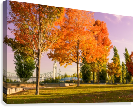 Autumn In The Old Port Of Montreal  Canvas Print