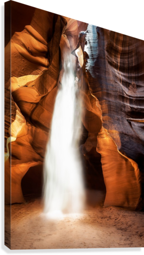 Slot Canyon Light Beam  Canvas Print
