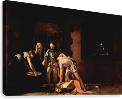 The Beheading of John the Baptist  Canvas Print