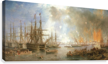 The Bombardment of Sveaborg  Canvas Print