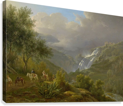 The Cascades at Tivoli, with a storm approaching  Canvas Print