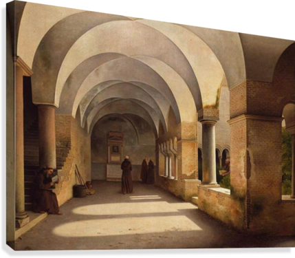 The Cloisters, San Lorenzo fuori le mura  Canvas Print