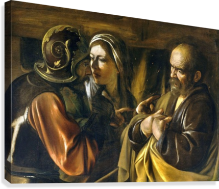 The Denial of Saint Peter  Canvas Print