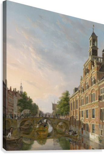 The Old Women and Children Home at the Spui, The Hague  Canvas Print
