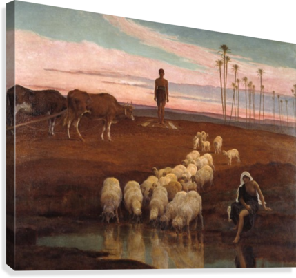 The Ploughman and the Shepherdess  Canvas Print