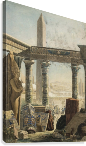 THE DESCRIPTION OF EGYPT, 1824 CHARLES LOUIS FLEURY PANCKOUCKE  Impression sur toile