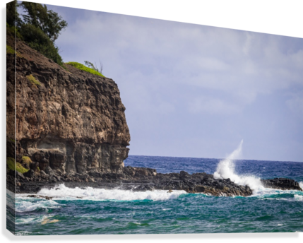 Kahili Beach   Kauai Hawaii 1035  Canvas Print