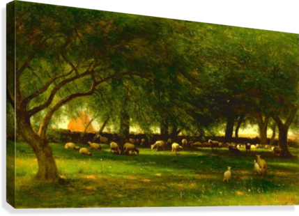Noon in the Orchard  Canvas Print