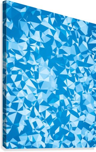 geometric triangle pattern abstract in blue  Canvas Print