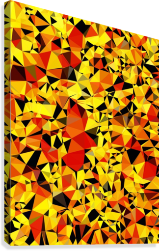 geometric triangle pattern abstract in orange yellow red  Canvas Print