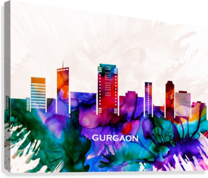 Gurgaon Skyline  Canvas Print