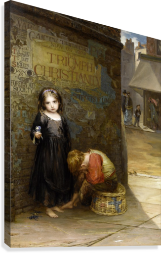 Uncared for 1871  Canvas Print