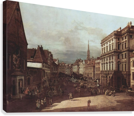 View of Vienna, flour market of Southwest seen from northeast  Canvas Print
