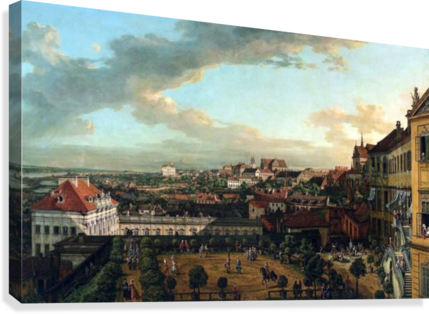 View of Warsaw from the terrace of the Royal Castle  Canvas Print